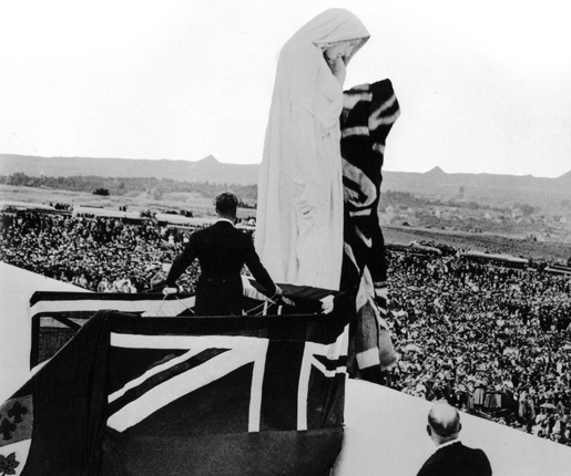 King Edward VIII unveiling the Vimy Ridge Memorial.