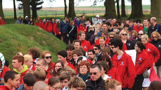 Students visit Beaumont Hamel.