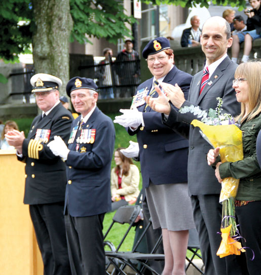Official guests and Legion elected officers attend the cadet Sunset Ceremonies. [PHOTO: JENNIFER MORSE]