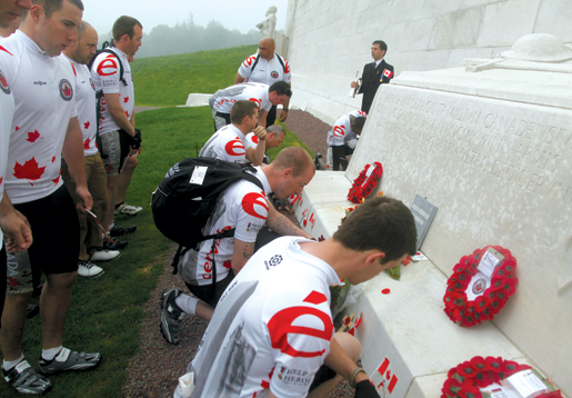 Ceremony at the Vimy Ridge memorial. [PHOTO: ADAM DAY]