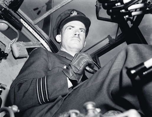 Wing Commander John Fauquier at the controls in 1942. [PHOTO: CANADIAN FORCES JOINT IMAGERY CENTRE—PL10408]