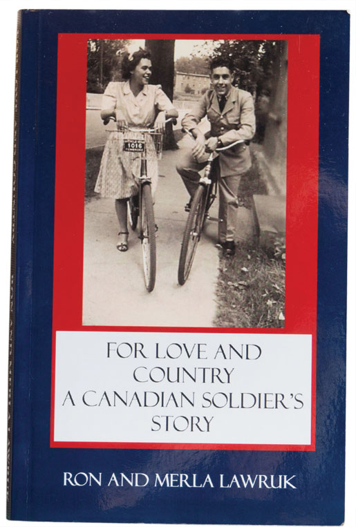 A wartime photograph of Ted and Eileen adorns the cover of a book on the war veteran. [PHOTO: DAN WARD]