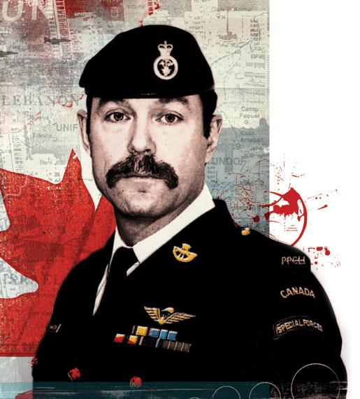 Canadian Army Major Paeta Hess-von Kruedener. [ILLUSTRATION: ALEX WILLIAMSON]