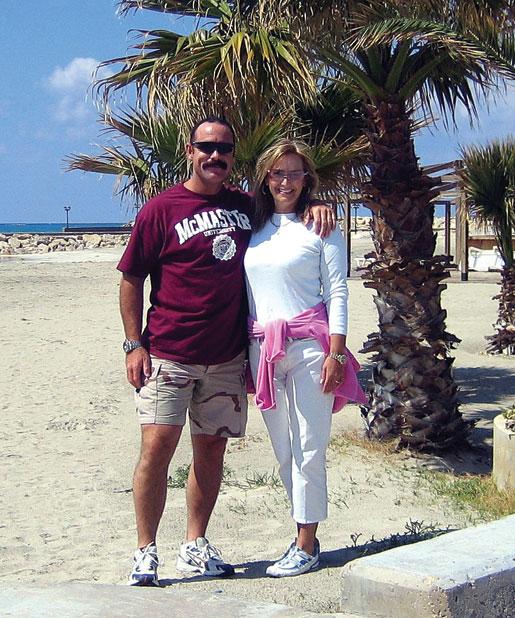 Paeta and Cynthia on the beach in Tyre, Lebanon. [PHOTO: COURTESY CYNTHIA HESS-VON KRUEDENER]