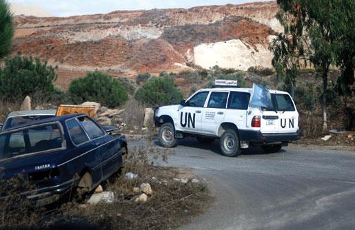 Major Richard Little patrols Southern Lebanon. [PHOTO: ADAM DAY]