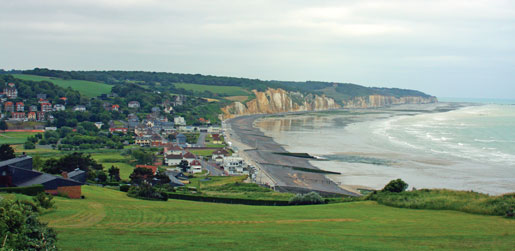 The beach at Pourville, France, where Canadians came ashore as part of the August 1942 Dieppe Raid. [PHOTO: SHARON ADAMS]