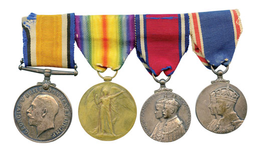 Clarence's war medals. [PHOTO: COURTESY ROBERT BLACK]
