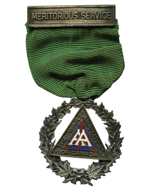 Clarence's Meritorious Service Award from the War Amps. [PHOTO: COURTESY ROBERT BLACK]