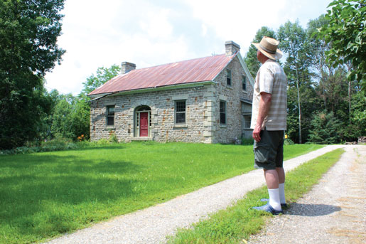The author's father visits the former Black homestead west of Almonte, Ont. [PHOTO: DAN BLACK]