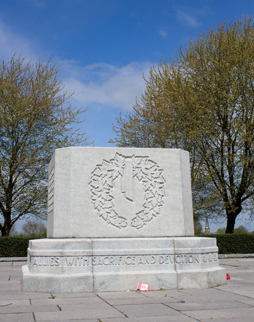 The Courcelette Memorial. [PHOTO: DAN BLACK]