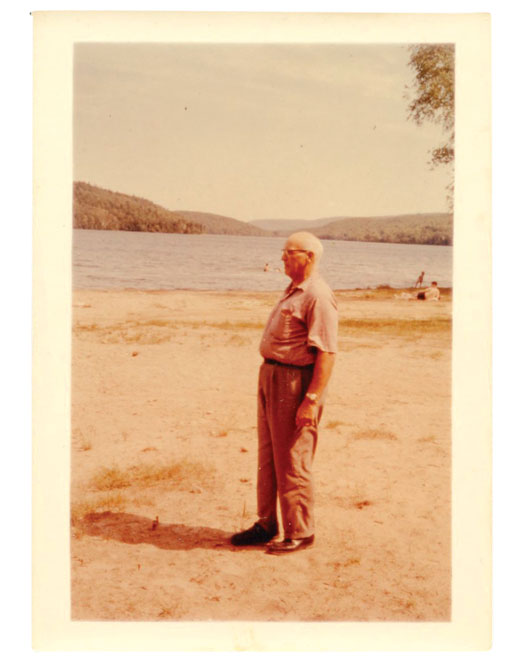 Clarence, next to one of the lakes he liked to visit. [PHOTO: COURTESY ROBERT BLACK]