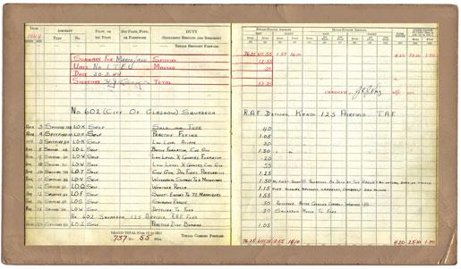 The airman's log book. [PHOTOS: COURTESY LYNDA MACPHEE]