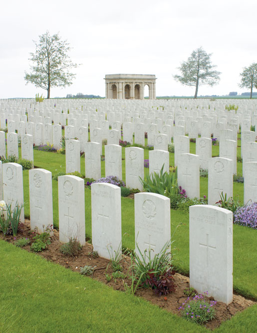 Adanac War Cemetery north of Courcelette. [PHOTO: DAN BLACK]