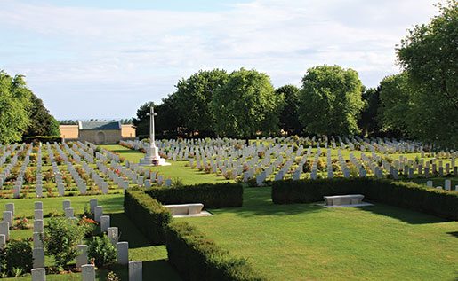 Beny-sur-Mer Canadian War Cemetery, Reviers, France. [PHOTO: SHARON ADAMS]