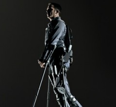 An exoskeleton suit developed by Ekso Bionics of California. [PHOTO: R.J. MUNA, EKSO BIONICS]