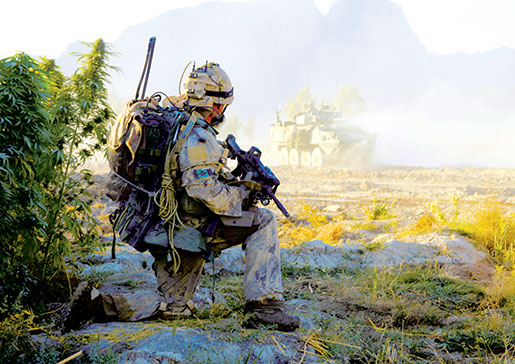 PPCLI Sergeant Dwayne MacDougall in Salavat, 2009. [PHOTO: ADAM DAY]
