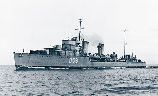 HMCS Skeena, May 31, 1940. [PHOTO: CANADIAN WAR MUSEUM—19900321-009]