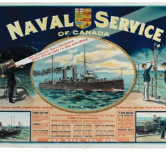The Naval Service of Canada's first peacetime recruiting poster. [PHOTO: CANADIAN WAR MUSEUM—19940001-980]