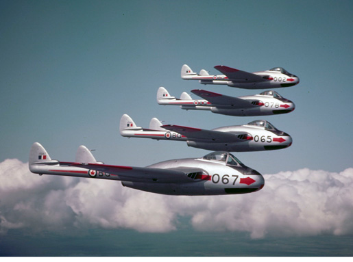 De Havilland Vampire jets [PHOTO: NATIONAL DEFENCE—PC-824]