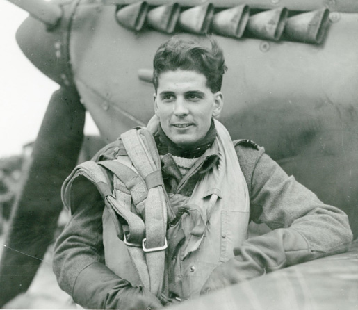 RCAF Spitfire pilot Richard Audet. [PHOTO: NATIONAL DEFENCE—PL41716]