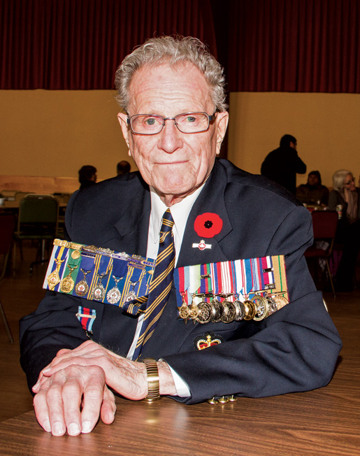 Second World War veteran Harold Hague. [PHOTO: TOM MacGREGOR]