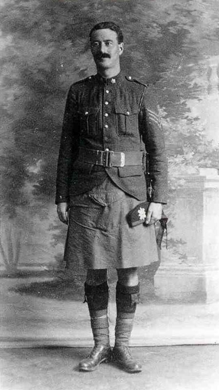 Sergeant John Henry Thomson, photographed in England prior to embarkation for France, early 1915. [PHOTO: COURTESY TOM O'SULLIVAN]
