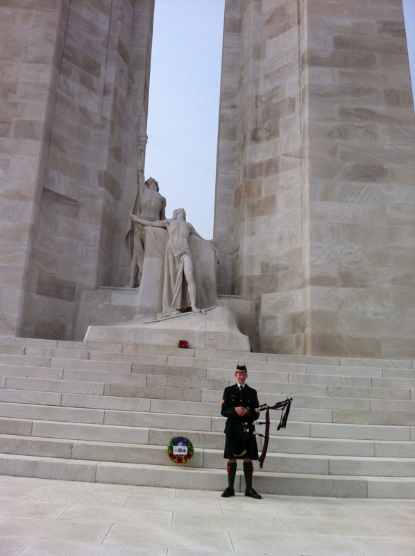 Michael O'Sullivan also visited Vimy Ridge during his battlefields tour with his cadet corps. [TOM O'SULLIVAN]