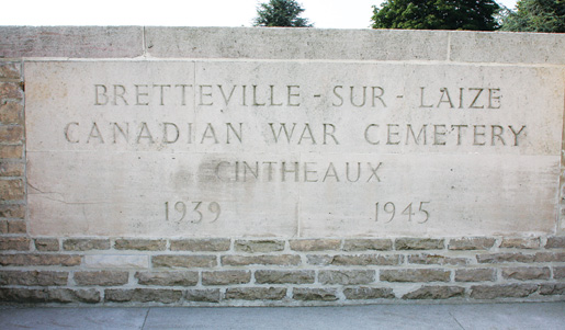 The Bretteville-sur-Laize Canadian War Cemetery contains the graves of 2,793 Canadian soldiers. [PHOTO: SHARON ADAMS, LEGION MAGAZINE]