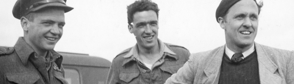 Wing Commander Robert Davidson  (in civilian clothes) shown in September 1944 after evading capture in France. While posted  with the RAF in the Far East, he was credited with two destroyed aircraft. [PHOTO: LIBRARY AND ARCHIVES CANADA—PL-32731/CANADIAN WAR MUSEUM—19650071-019_p11d]