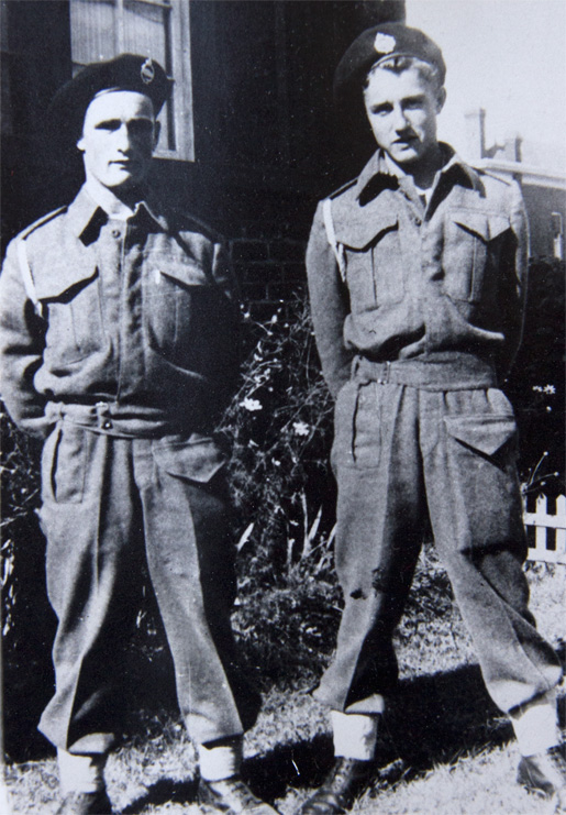Lawrence (left) and Wilfred True.