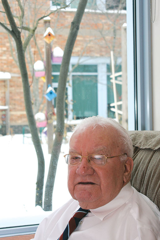 Second World War veteran Gib McElroy. [PHOTO: SHARON ADAMS]