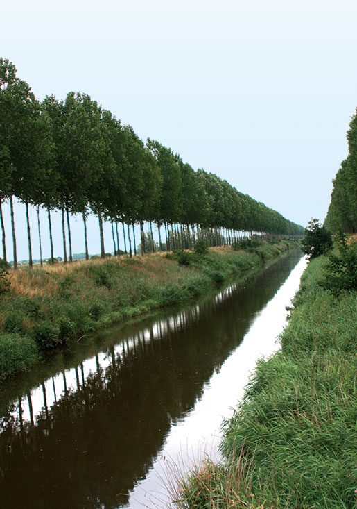 The Leopold Canal, near the Belgian/Dutch border, was reached by Canadian troops in October 1944 after the liberation of Adegem, Belgium. [PHOTO: SHARON ADAMS, LEGION MAGAZINE]