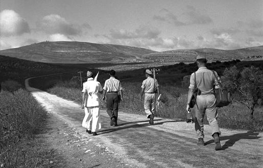 U.N. Truce Observers in Palestine. [PHOTO: UNITED NATIONS—349796]