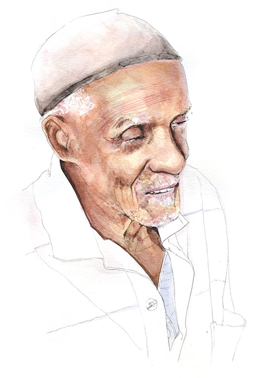 Second World War veteran Joseph Nathaniel Bellamy remembers joining the army. [ILLUSTRATION: JENNIFER MORSE]