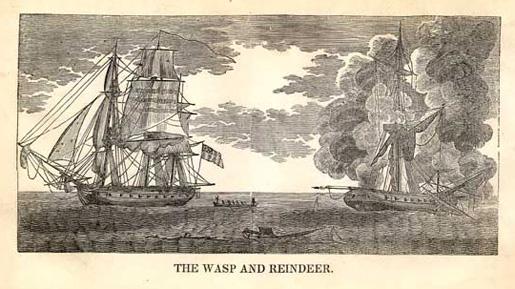 USS Wasp II and HMS Reindeer [ILLUSTRATION: WIKIPEDIA]