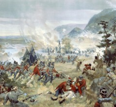 Battle of Queenston Heights. [ILLUSTRATION: LIBRARY AND ARCHIVES CANADA—C-000273]