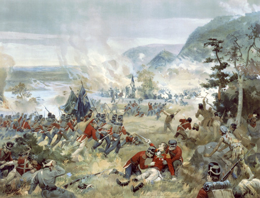 Battle of Queenston Heights. [ILLUSTRATION: LIBRARY AND ARCHIVES CANADA—C000273]