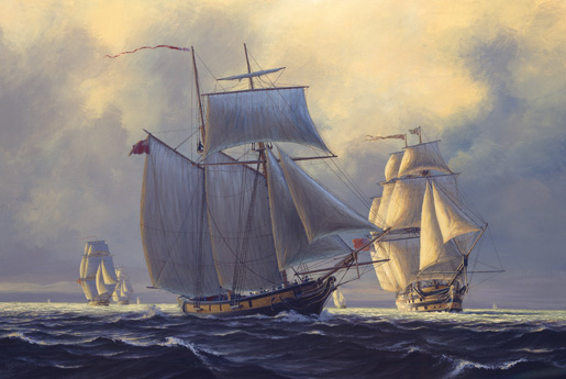 HMS St. Lawrence [ILLUSTRATION: PETER RINDLISBACHER]