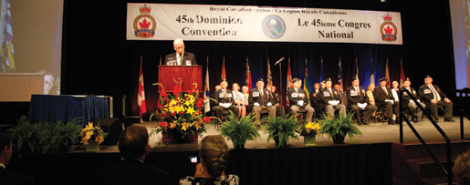 Newly installed Dominion President Tom Eagles outlines his action plan. [PHOTO: LEGION MAGAZINE]