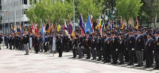Legionnaires at the ceremony. [PHOTO: LEGION MAGAZINE]