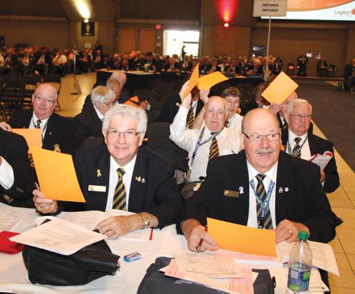 P.E.I. delegates vote. [PHOTO: LEGION MAGAZINE]