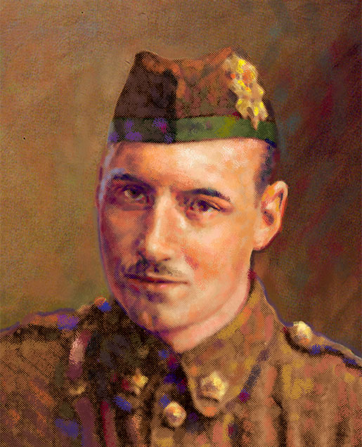 Lance-Corporal Frederick Fisher, VC [ILLUSTRATION: SHARIF TARABAY]