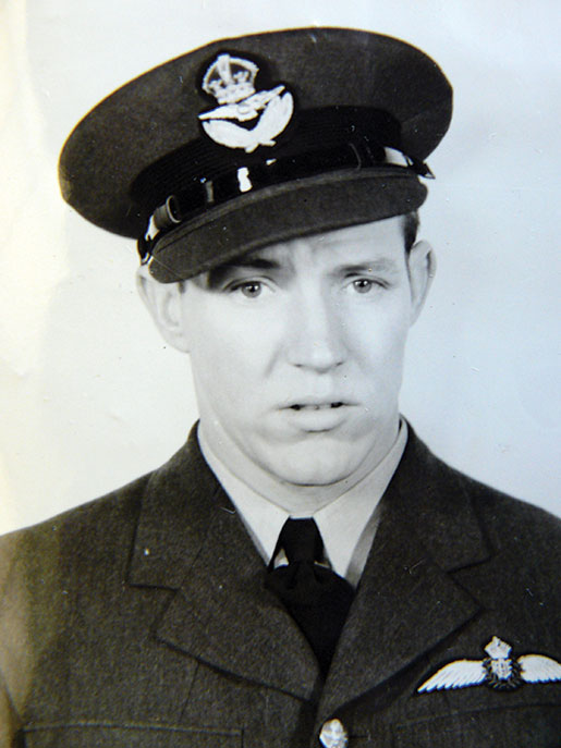 Flight Lieutenant  Everett E. Ettinger. [PHOTO: COURTESY Of HUGH A. HALLIDAY]
