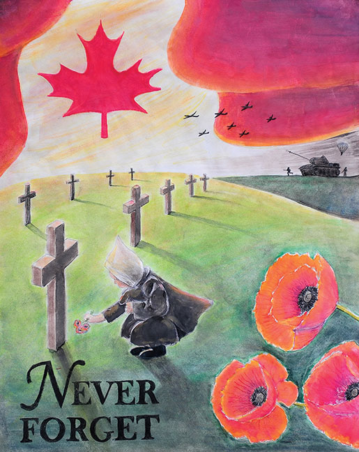 [Junior Posters First Place Colour: Anneke Joy Brink of Brampton, Ont]