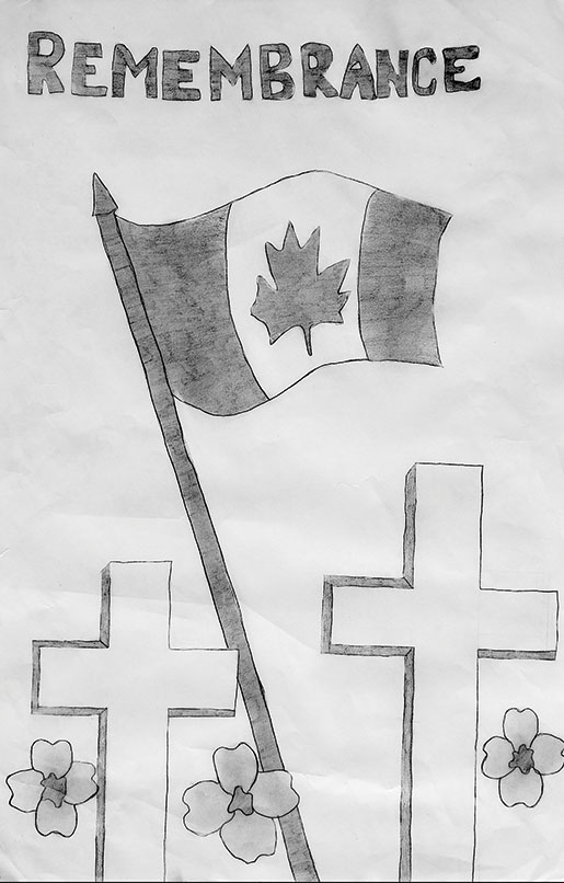[Primary Posters First Place black and white: Jessica Hofer of Camrose, Alta.]