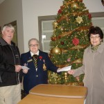 L Curtis doing Hospital donation 2014