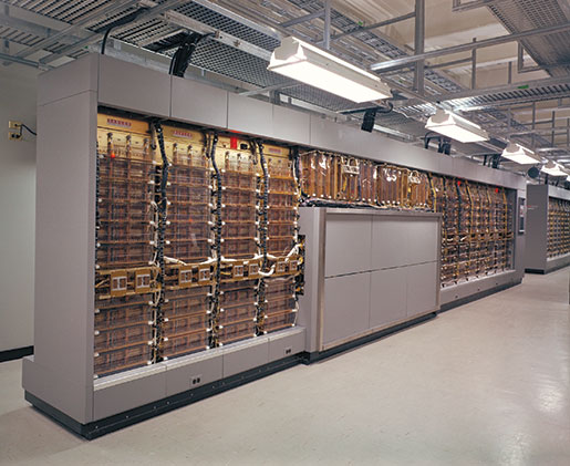 A small section of the SAGE computer. [PHOTO: CANADIAN FORCES MUSEUM OF AEROSPACE DEFENCE—PCN4708]