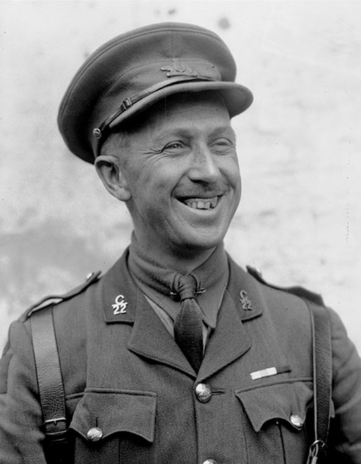 Major Georges Vanier,  June 1918. [PHOTO: ERNEST MAUNDER, DEPARTMENT OF NATIONAL DEFENCE, LIBRARY AND ARCHIVES CANADA—PA002777]