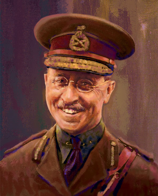 Brigadier  Richard Turner, VC [ILLUSTRATION: SHARIF TARABAY]