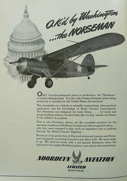 Advertising the merits of the Norseman. [ILLUSTRATION: COURTESY HUGH A. HALLIDAY]